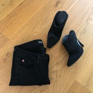 Hudson Krista super skinny black crop jeans